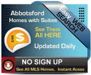 Abbotsford Homes with Suites for sale.